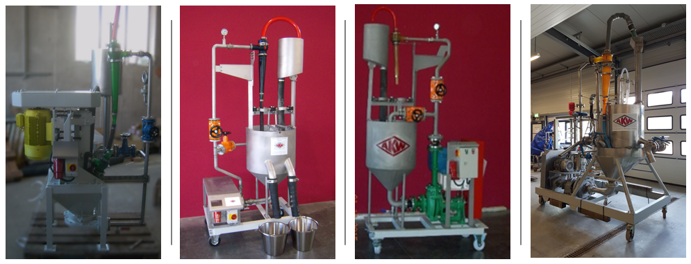 AKW A+V Laborant: Moveable Hydrocyclone Test Bench